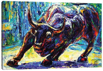 Charging Bull Canvas Art Print