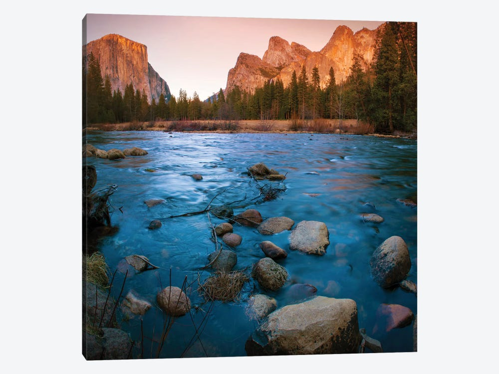 Yosemite Valley As Seen From The Bank Of The Merced River, Yosemite National Park, California, USA by Anna Miller 1-piece Canvas Art Print
