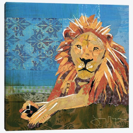 Lion Pride Canvas Print #NNM12} by Jenny McGee Canvas Art Print