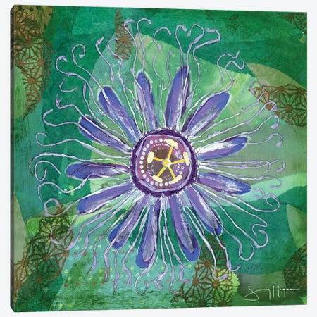Passion Flower I Canvas Print #NNM14} by Jenny McGee Canvas Artwork