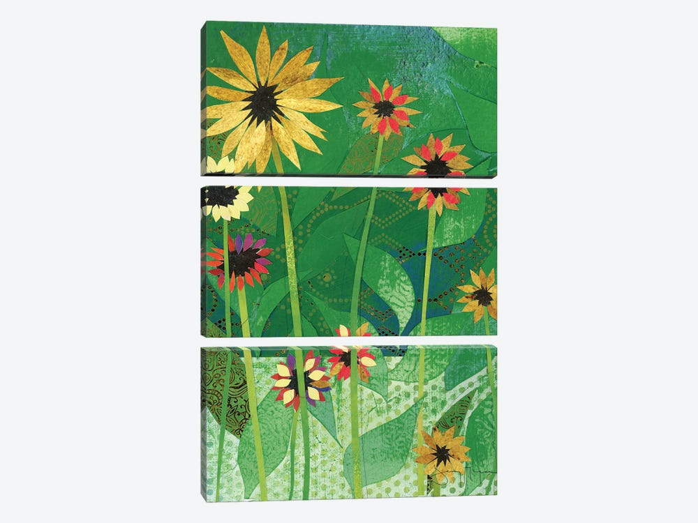Sunflowers by Jenny McGee 3-piece Canvas Art