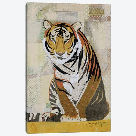 Tiger Perseverance Canvas Print #NNM19} by Jenny McGee Canvas Art Print