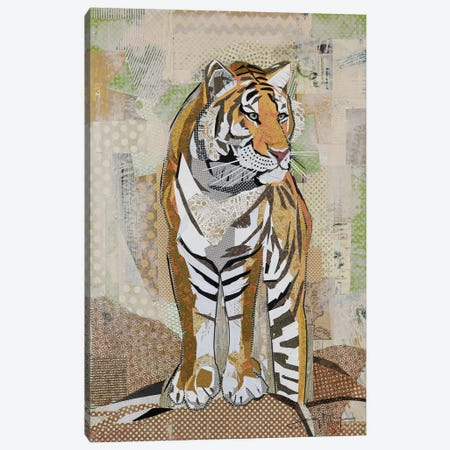 Tiger Strength Canvas Print #NNM20} by Jenny McGee Canvas Art