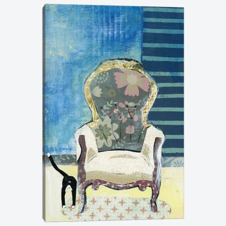 Comfy Chair Canvas Print #NNM4} by Jenny McGee Canvas Wall Art