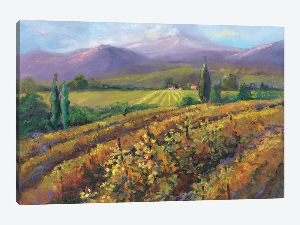Vineyard Tapestry I by Nanette Oleson 1-piece Canvas Art