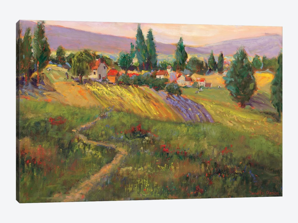 Vineyard Tapestry III by Nanette Oleson 1-piece Canvas Wall Art