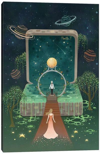 Full Moon Ring Canvas Art Print