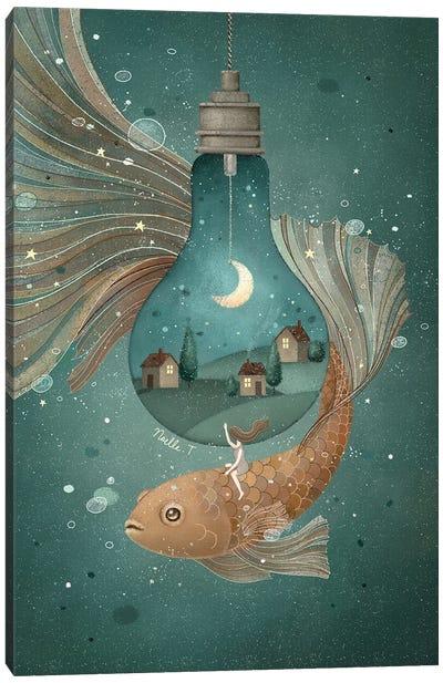Moonlight Traveler Canvas Art Print