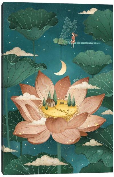 Tale Of A Lotus Canvas Art Print