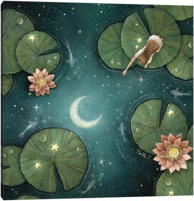 The Lotus Moonlight Canvas Art Print