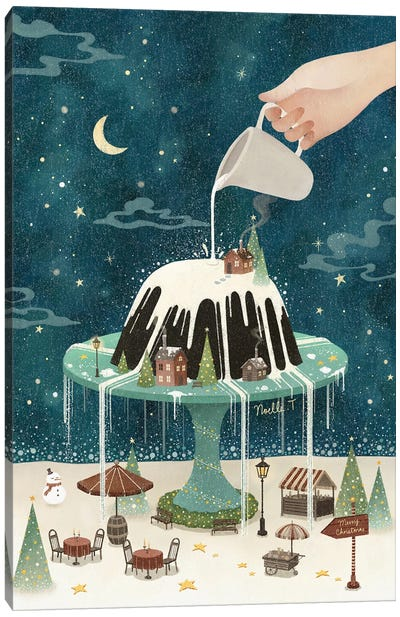 White Christmas Dream Canvas Art Print