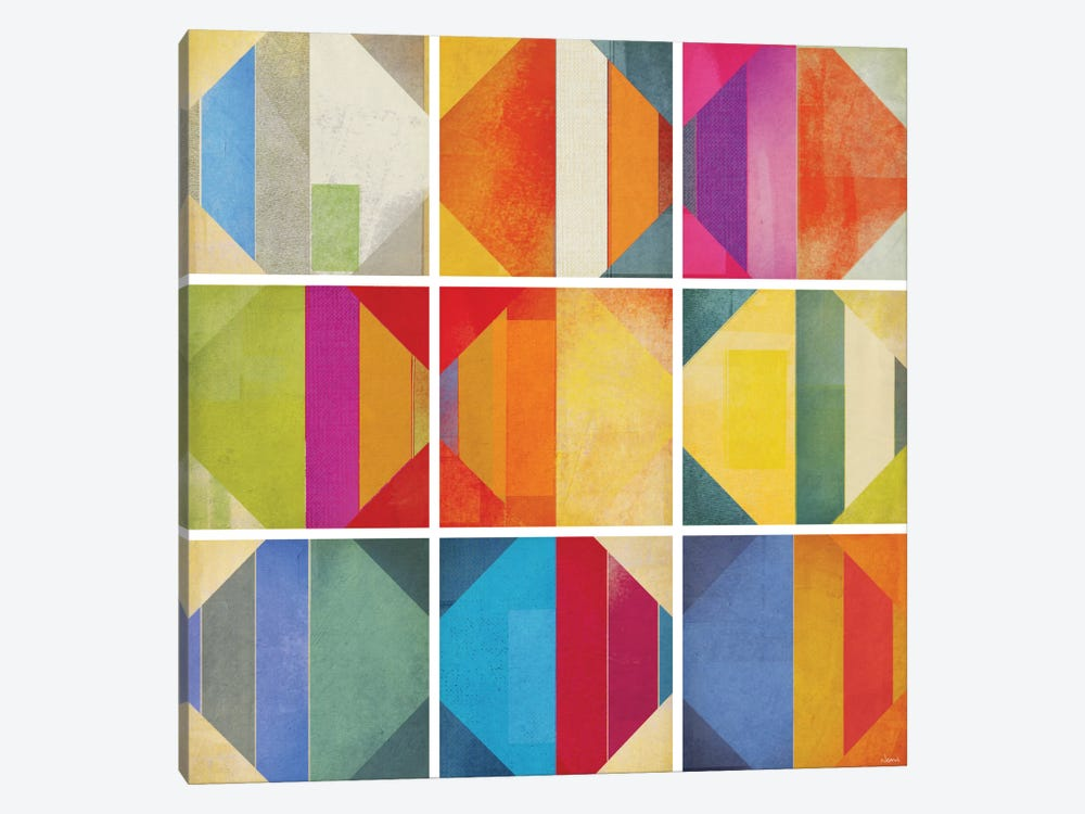 Pattern Tiles II 1-piece Canvas Art Print
