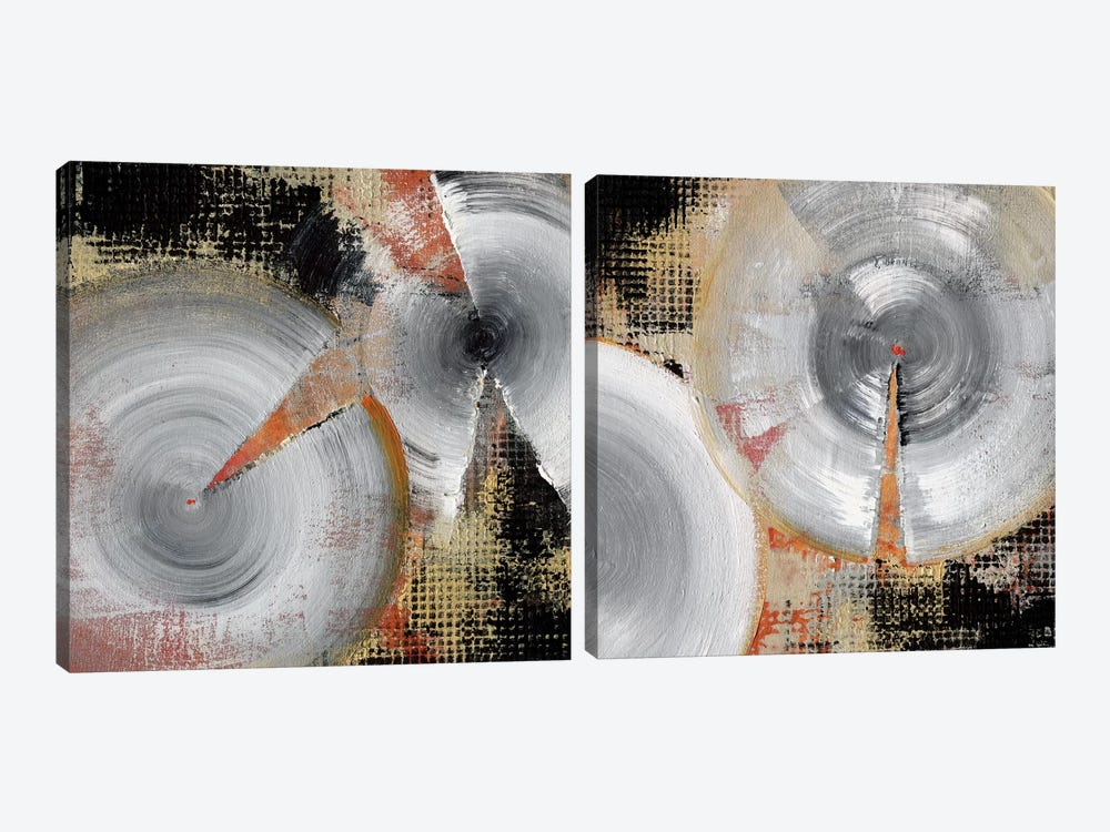 Circle Abstract Diptych by NOAH 2-piece Canvas Art