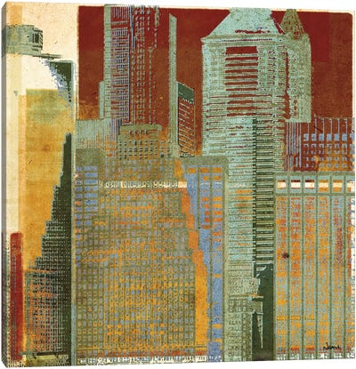 Urban Blocks I Canvas Art Print