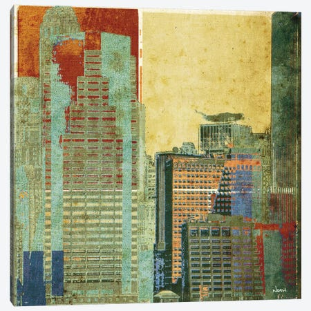 Urban Blocks II Canvas Print #NOH43} by NOAH Canvas Wall Art