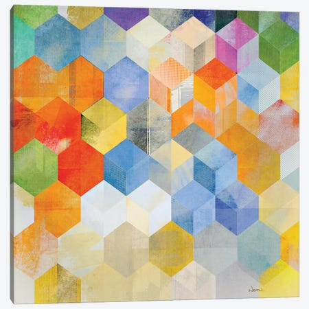 Cubitz II Canvas Print #NOH60} by NOAH Canvas Art