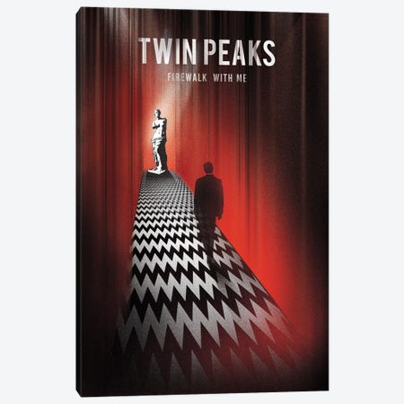 Twin Peaks Firewalk With Me Art Canvas Print #NOJ103} by 2Toastdesign Art Print