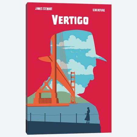 Vertigo Movie Art Canvas Print #NOJ106} by 2Toastdesign Canvas Wall Art