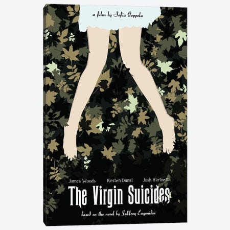 The Virgin Suicides Movie Art Canvas Print #NOJ107} by 2Toastdesign Canvas Wall Art