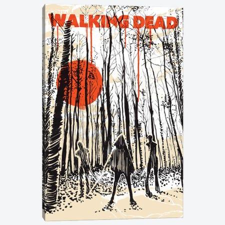 Walking Dead Fanzine Art Canvas Print #NOJ108} by 2Toastdesign Art Print