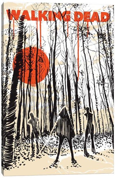 Walking Dead Fanzine Art Canvas Art Print