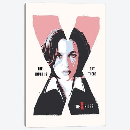Dana Scully X Files Art Canvas Print #NOJ111} by 2Toastdesign Canvas Artwork