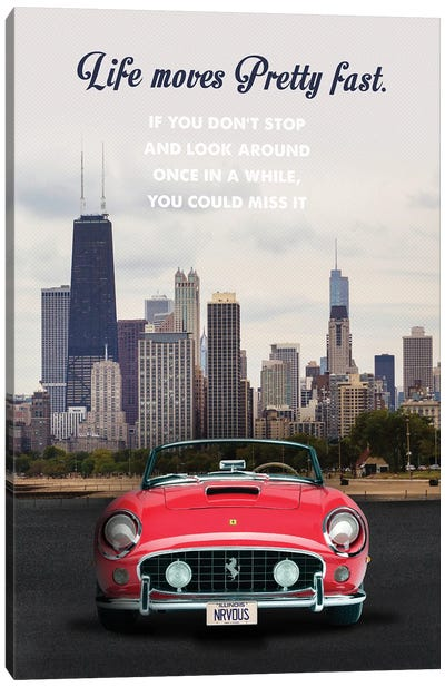 Ferris Bueller's Day Off Travel Movie Art Canvas Art Print