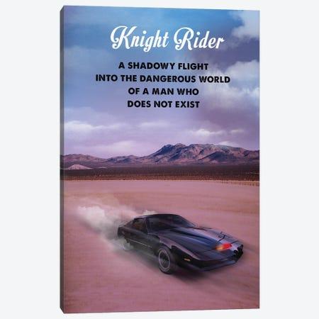 Knight Rider Travel Movie Art Canvas Print #NOJ113} by 2Toastdesign Canvas Wall Art