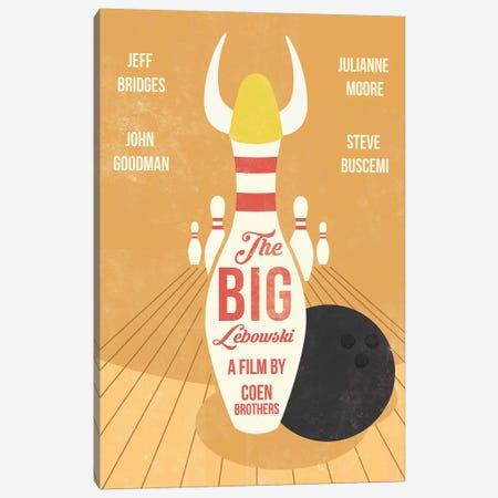 The Big Lebowski Movie Art Canvas Print #NOJ12} by 2Toastdesign Canvas Print