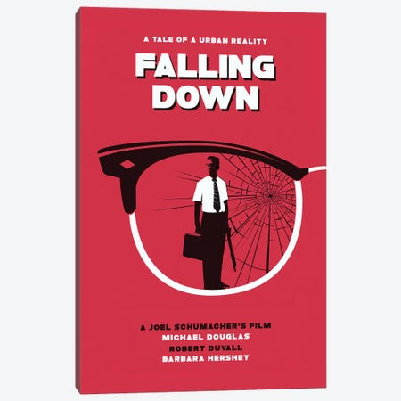 Falling Down Movie Art Canvas Print #NOJ135} by 2Toastdesign Canvas Art Print