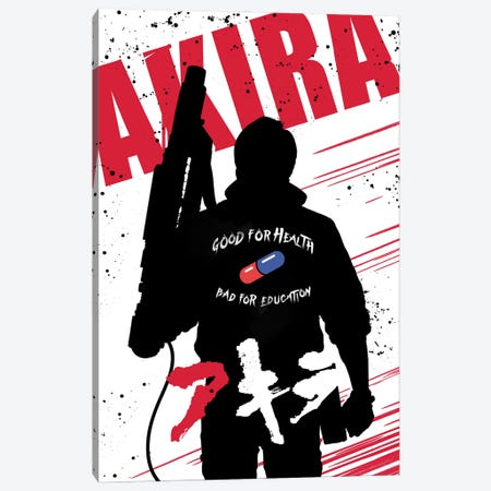Akira Movie Art Canvas Print #NOJ136} by 2Toastdesign Art Print