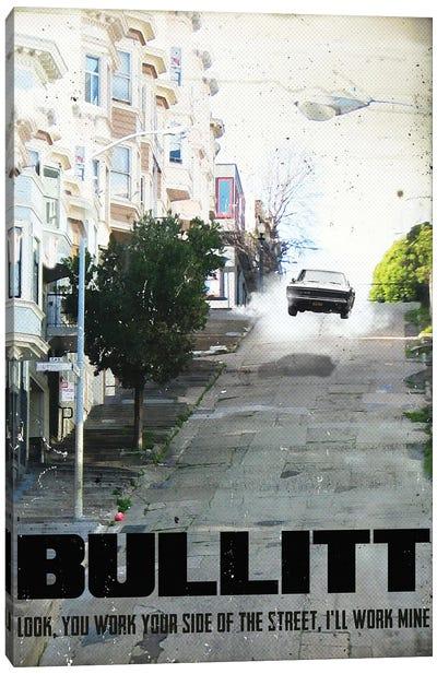 Bullitt Travel Movie Art Canvas Art Print