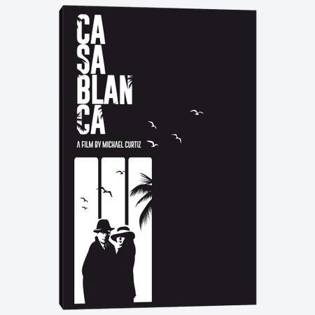 Casablanca Movie Art Canvas Print #NOJ19} by 2Toastdesign Canvas Art Print