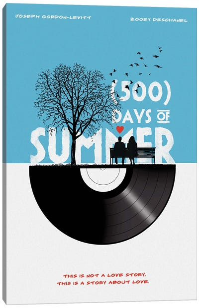 500 Days Of Summer Movie Art Canvas Art Print