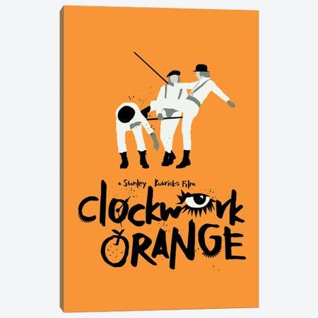 A Clockwork Orange Movie Art Canvas Print #NOJ20} by 2Toastdesign Canvas Wall Art