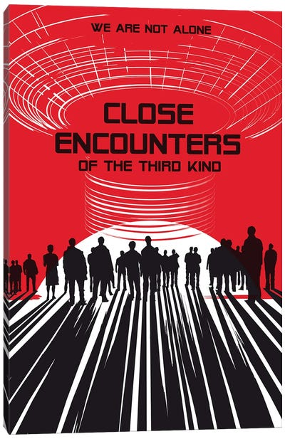 Close Encounters Of The Third Kind Movie Art Canvas Art Print