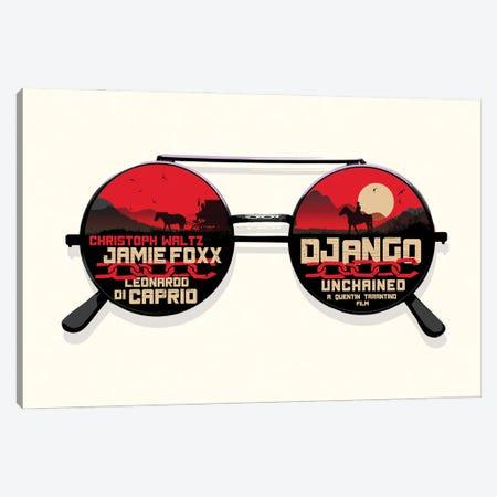 Django Movie Art Canvas Print #NOJ24} by 2Toastdesign Art Print