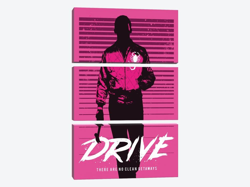 Drive Movie Art by 2Toastdesign 3-piece Canvas Wall Art