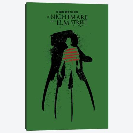 A Nightmare On Elm Street Movie Art Canvas Print #NOJ29} by 2Toastdesign Canvas Art