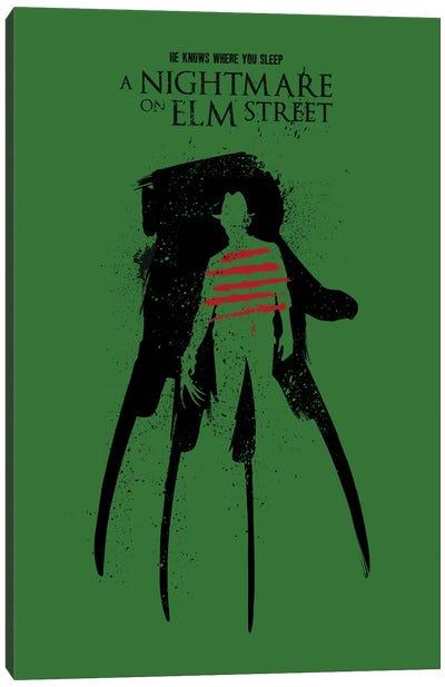 A Nightmare On Elm Street Movie Art Canvas Art Print