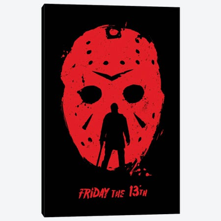 Friday The 13Th Movie Art Canvas Print #NOJ39} by 2Toastdesign Canvas Print