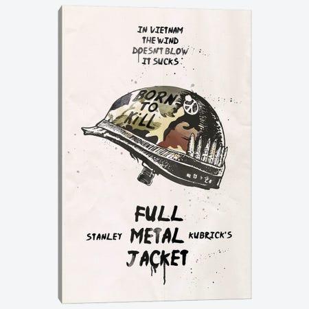 Full Metal Jacket Movie Art Canvas Print #NOJ40} by 2Toastdesign Canvas Artwork