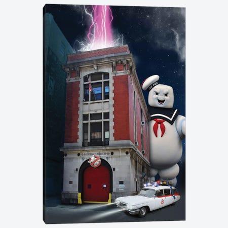 Ghostbusters Travel Movie Art Canvas Print #NOJ45} by 2Toastdesign Canvas Art Print