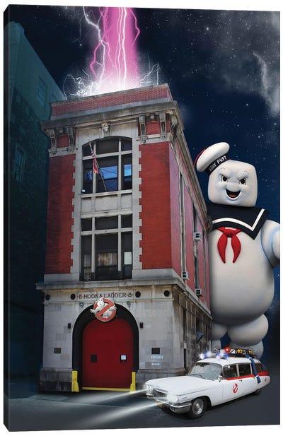 Ghostbusters Travel Movie Art Canvas Art Print