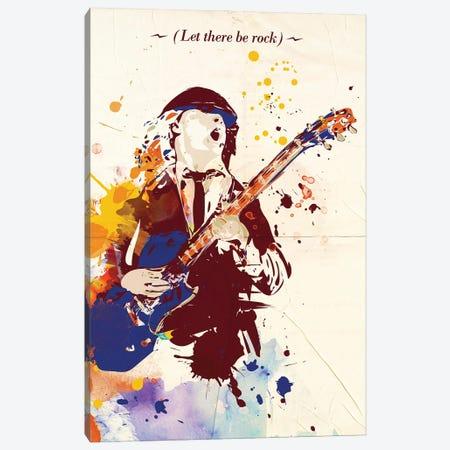 Angus Young Pop Art Canvas Print #NOJ4} by 2Toastdesign Canvas Wall Art