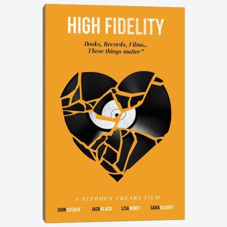 High Fidelity Movie Art Canvas Print #NOJ51} by 2Toastdesign Canvas Print