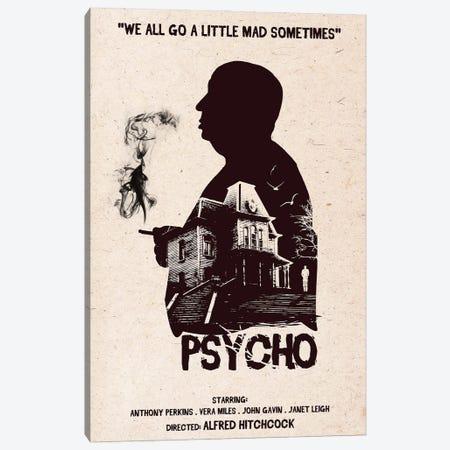 Hitchcock Psycho Movie Art Canvas Print #NOJ52} by 2Toastdesign Canvas Print