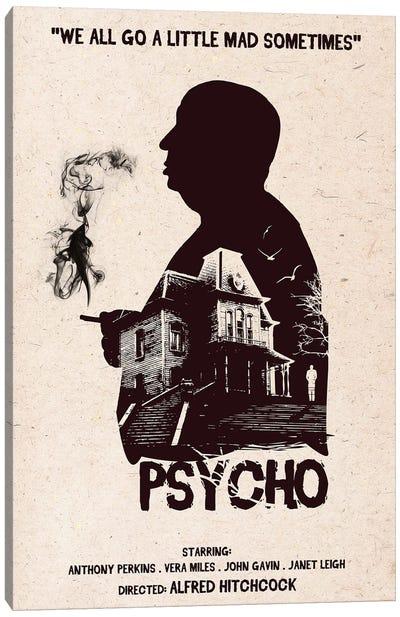 Hitchcock Psycho Movie Art Canvas Art Print