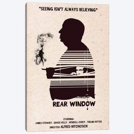 Hitchcock Rear Window Movie Art Canvas Print #NOJ53} by 2Toastdesign Canvas Print