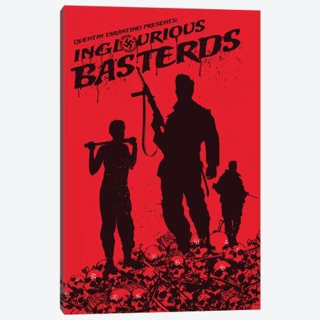 Inglourious Basterds Movie Art Canvas Print #NOJ57} by 2Toastdesign Canvas Artwork